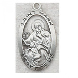 PEWTER ST MARK MEDAL WITH