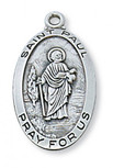 PEWTER ST PAUL MEDAL WITH