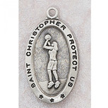 PEWTER GIRLS BASKETBALL MEDAL