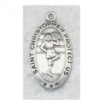 PEWTER CHEERLEADING MEDAL WITH