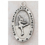 PEWTER FIGURE SKATING MEDAL
