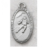 PEWTER OVAL FOOTBALL 24/CAR""
