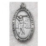 PEWTER OVAL GOLF 24/ CARDED""