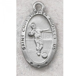 PEWTER OVAL SOCCER 24/CARD""