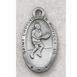 PEWTER OVAL TENNIS 24 CARDE""