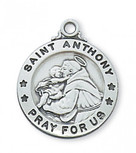 PEWTER ST ANTHONY MEDAL
