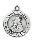 PEWTER ST BRIGID MEDAL WITH