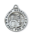 PEWTER ST BENEDICT MEDAL