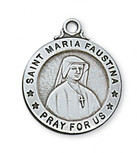 PEWTER ST MARIA FAUSTINA MEDAL