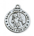 PEWTER ST. JOAN OF ARC MEDAL