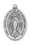 """MARY MIRACULOUS MEDAL IN STERLING SILVER WITH 20"""" CHAIN"""