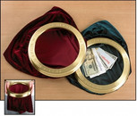 """Offering Bag, engraved with """"Praise God from whom all blessings flow""""  Burgundy color only available"""