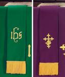 Purple/Green Bookmark with Fringe