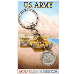 Army keyring with prayer card gift set