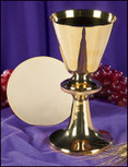Engraved Node Chalice and Paten Set