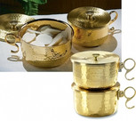 1000 Host Brass Stacking Ciborium with Lid