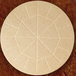 "5 3/4"" Diameter Whole Wheat Celebrant Altar Bread box of 25"