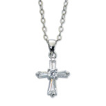 "16"" CRY CROSS PENDANT/BX"