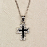 """18 BLK & CRY CROSS/CARDED"""""""