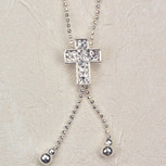 18 CRTSTAL CROSS PENDANT/CARD""