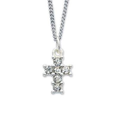 Crystal Cross pendant on 18 inch chain with gift box