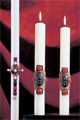 Christ Victorious Complementing Altar Candles (80962502)