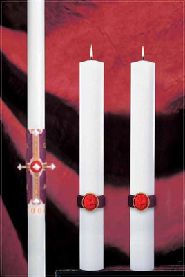 Cross of the Lamb Complementing Altar Candle (80986125)