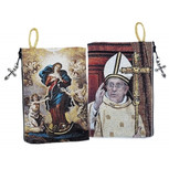 "Our Lady Undoer of Knots & Pope Francis Sacred Image Pouch NEW!! 5 3/8""x4"""