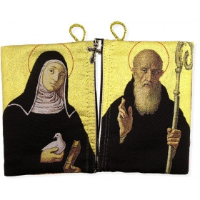 St Benedict and St Scholastica Rosary Icon Pouch (TIP10)