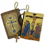 """Crucifixion Rosary Icon Pouch 5 3/8""""x4"""""""