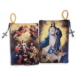 The Immaculate Conception & Holy Family 2 Sided Icon Rosary Pouch (TPI21)