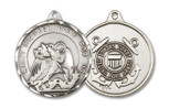 ST. JOSEPH / COAST GUARD - Sterling Silver - 1 3/8 x 1 1/4