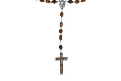 Orthodox Olive Wood Rosary with Holy Water