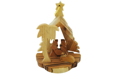 Nativity Olive Wood Ornament