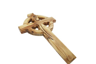 Celtic Wood Olive Wood Cross