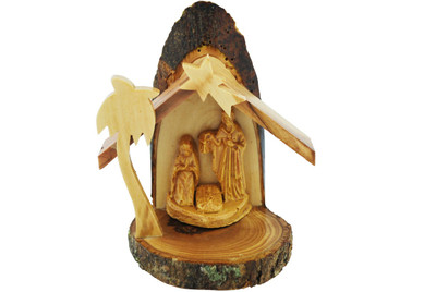Holy Family Olive Wood Statue