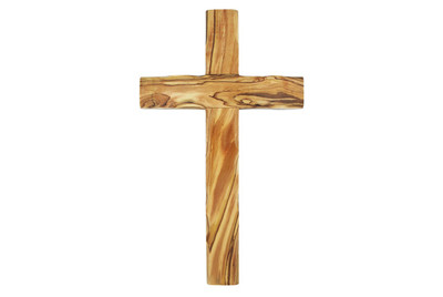 Olive Wood Cross 10''