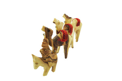 Olive Wood Camel 4Pc Set