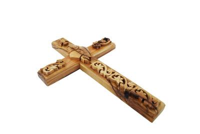 Communion Olive Wood Cross 10''