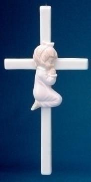 PRAYING GIRL CROSS