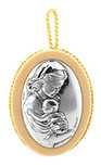 Silver-Plated Crib Medal by Vatican Imports