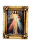 "Beautiful Framed Divine Mercy Print - 4.5"" x 3.5"""