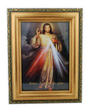 "Beautiful Framed Divine Mercy Print - 7"" x 5"""