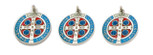 St. Benedict Medal with Blue and Red Enamel (Lot of 3)