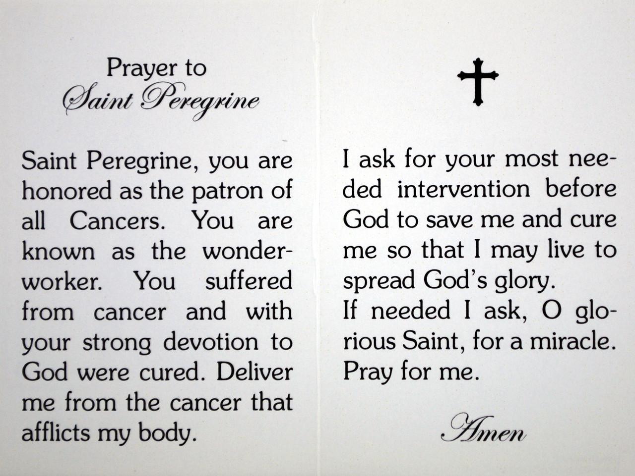 Saint Peregrine Scented Healing Oil