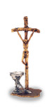 Saint John Paul II Crucifix with Communion Chalice (Gold Cross - Silver Chalice)