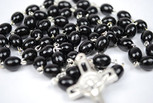 Catholic Saint Benedict Rosary (Black)