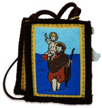Authentic Catholic Scapular - 100% Wool (Saint Christopher)