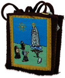 Authentic Catholic Scapular - 100% Wool (Our Lady of Fatima w/ Brown Cord)