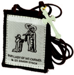 Authentic Catholic Scapular - 100% Wool (Traditional Brown w/ Brown Cord)